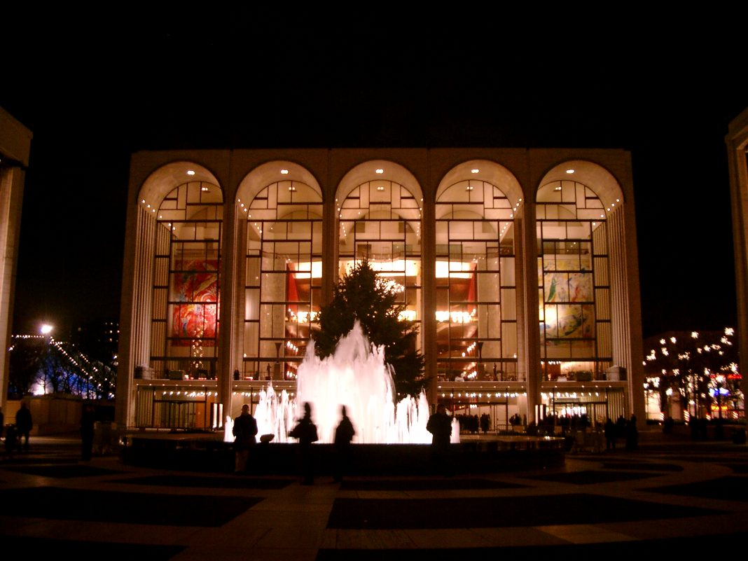Metropolitan Opera de Nueva York. Imagen de archivo.