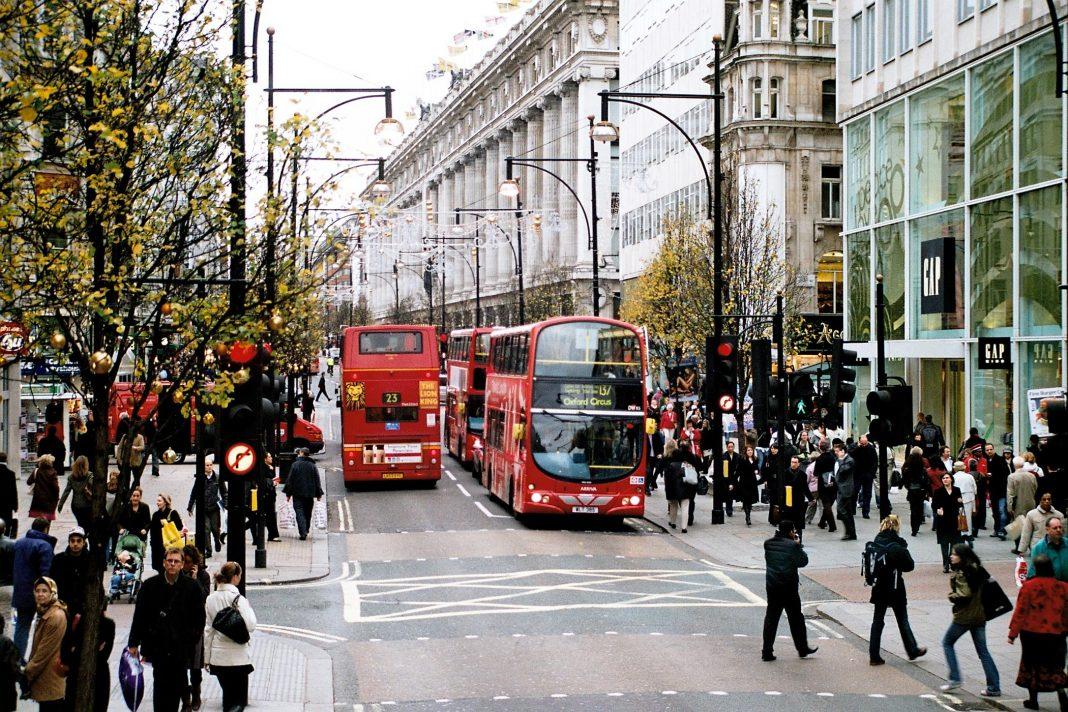 Oxford Street. Imagen de archivo.