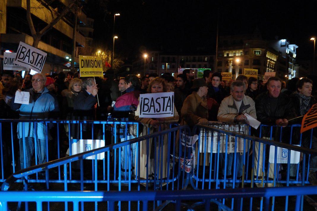 Protesta contra la corrupción en el Partido Popular. Imagen de archivo.