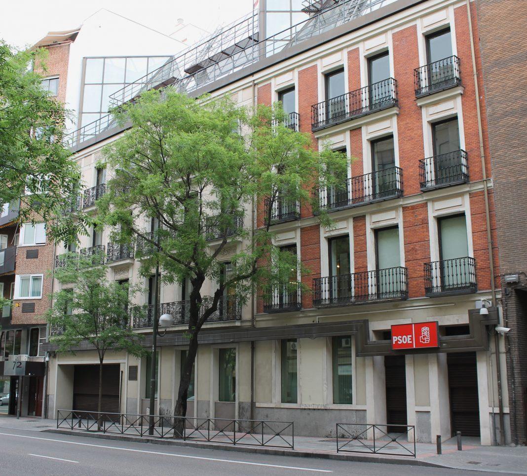 Sede del PSOE en Madrid. Imagen de archivo.