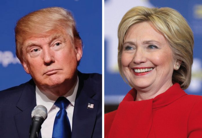 Los candidatos a la presidencia de Estados Unidos: Donald Trump y Hillary Clinton. Imagen de archivo.