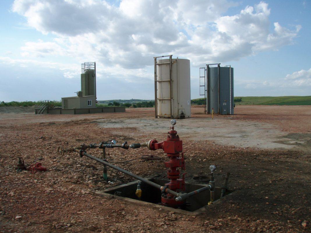 Técnica de fracking. Imagen de archivo.