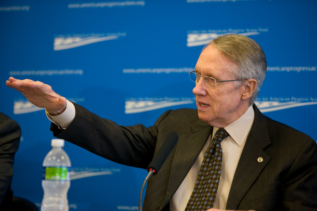 Harry Reid, líder demócrata del Senado de Estados Unidos. Imagen de archivo.