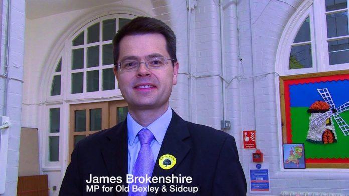 James Brokenshire, secretario de Irlanda del Norte. Imagen de archivo.