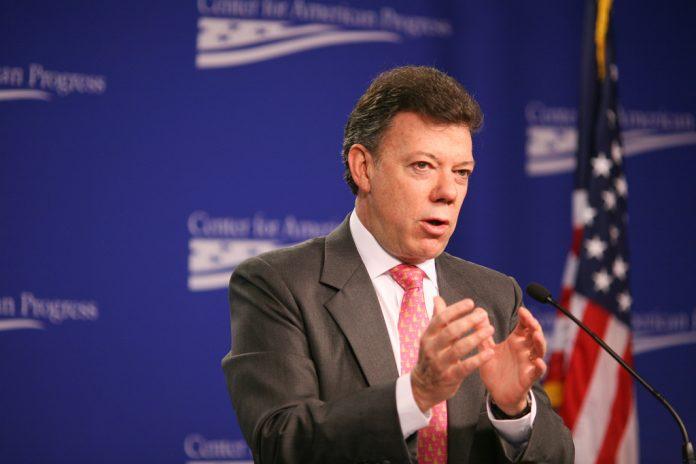 Juan Manuel Santos, presidente de Colombia y premio Nobel de la Paz. Imagen de archivo.