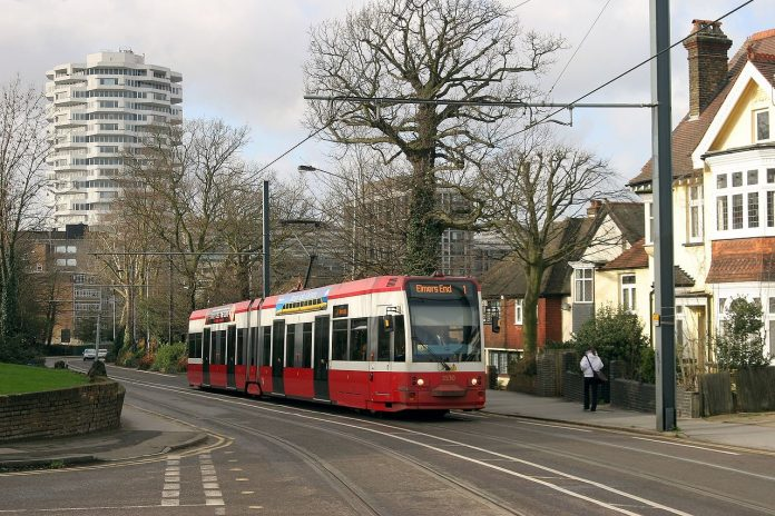 Tranvía de Croydon. Imagen de archivo.