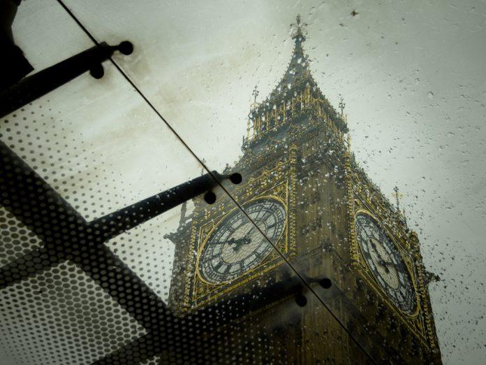 Londres se verá afectada por lluvias invernales esta semana. Imagen de archivo.