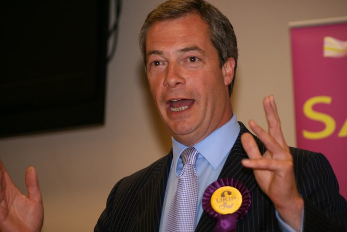 Nigel Farage de UKIP. Imagen de archivo.