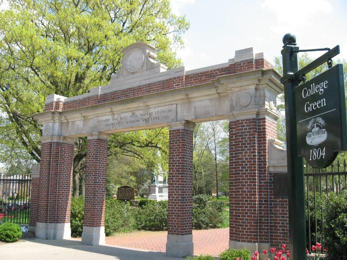 Entrada de la universidad de Ohio. Imagen de archivo.