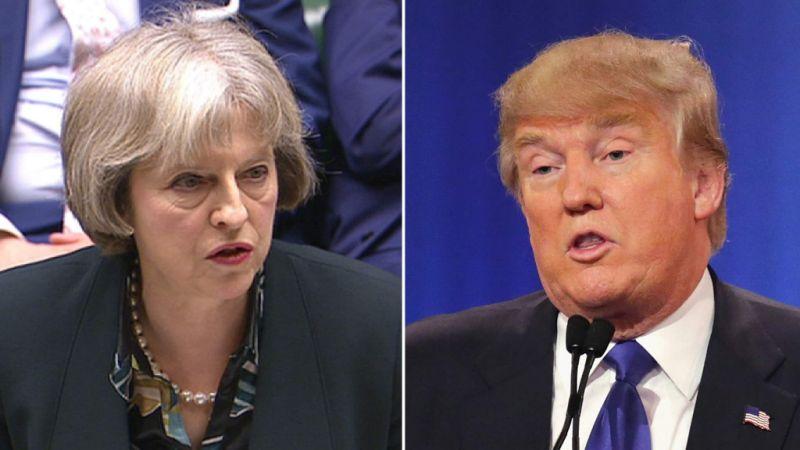 La primera ministra británica Theresa May y el presidente de Estados Unidos, Donald Trump. Imagen de archivo.