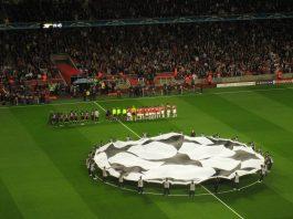 Inicio de partido de Champions. Imagen de archivo.