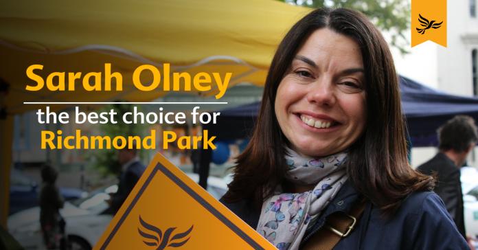 Imagen de campaña de Sarah Olney. Liberal Democrats.com