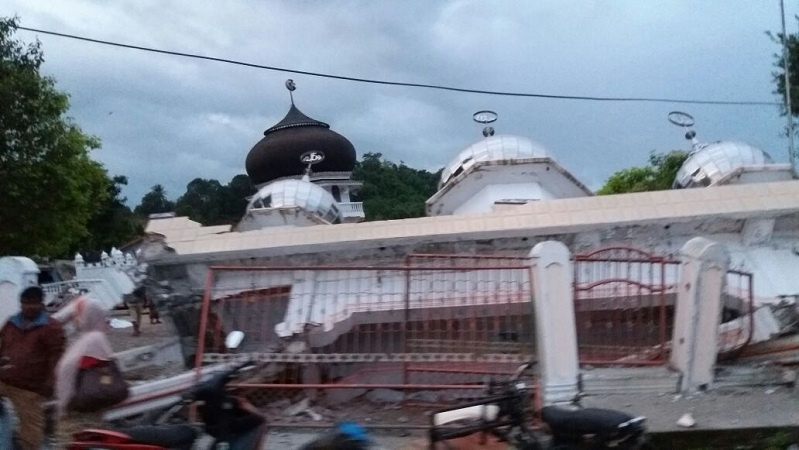 Pidie Jaya afectada por el terremoto. News Okezone.