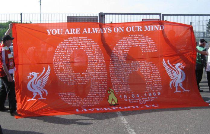Conmemoración del desastre de Hillsborough. Imagen de archivo.