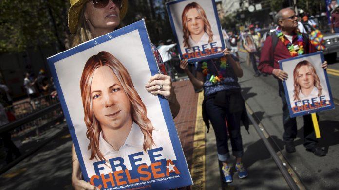 Manifestación a favor de la liberación de Chelsea Manning. Mother Jones.