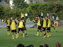 Jugadores del Borussia Dortmund durante un entrenamiento. Imagen de archivo.