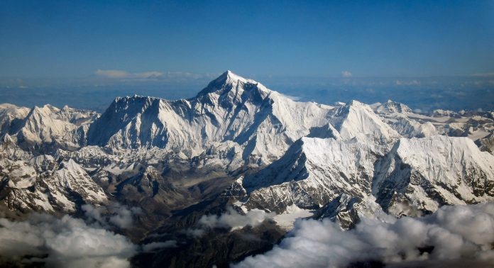 El monte Everest. Imagen de archivo.