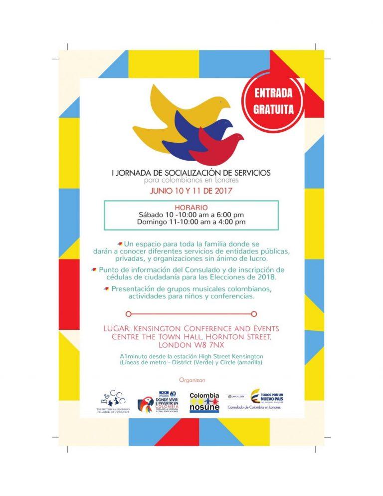 Primera Jornada de Socialización de Servicios para colombianos en Londres
