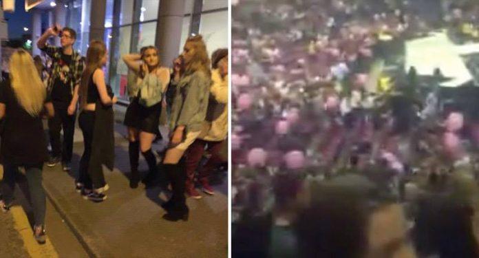 Imágenes del atentado en el Manchester Arena.
