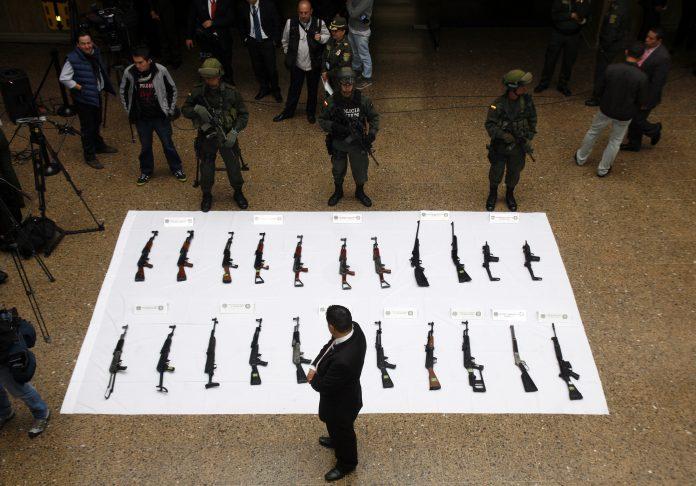 Golpe a frente séptimo de las FARC. Imagen de archivo.