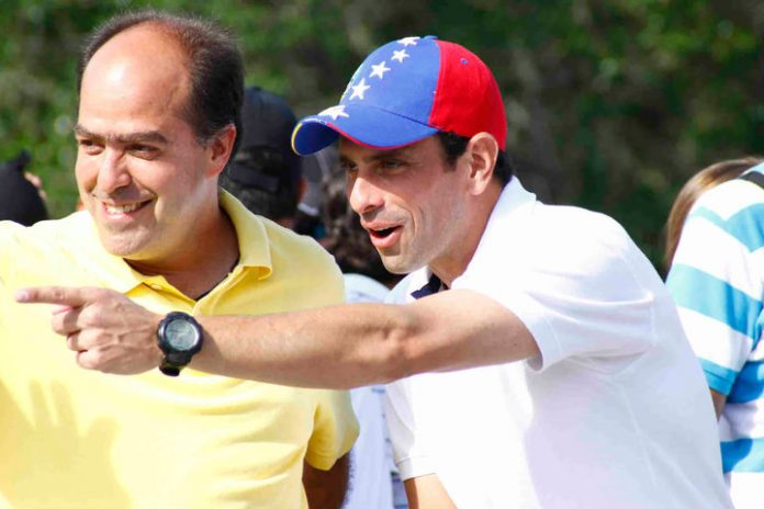 Julio Borges y Henrique Capriles. Imagen de archivo.