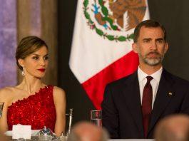 El Rey y la Reina de España durante una cena en México. Imagen de archivo.