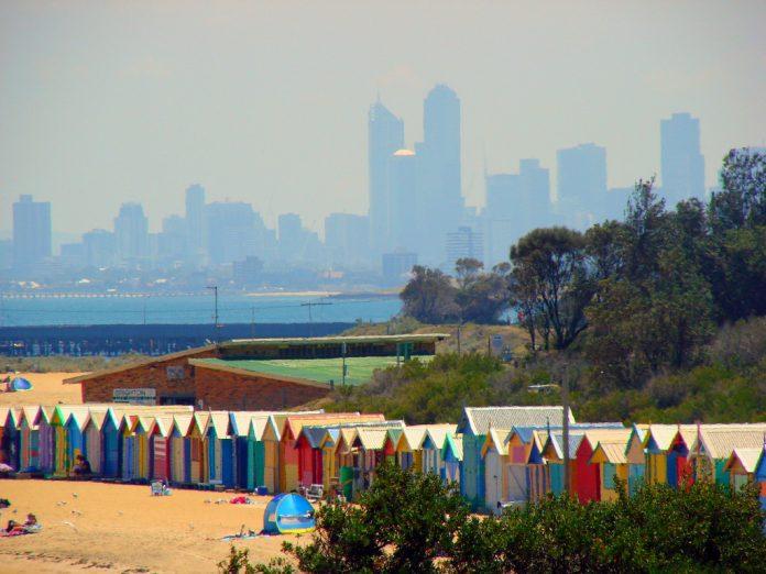 El suceso tuvo lugar en la playa de Brighton, Melbourne, Australia. Imagen de archivo.