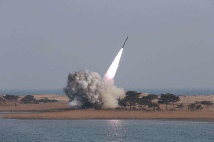 Corea del Norte lanza un nuevo misil. Imagen de archivo.