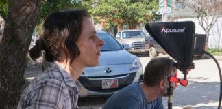 Laura Plancarte durante uno de sus rodajes. Laura Plancarte.