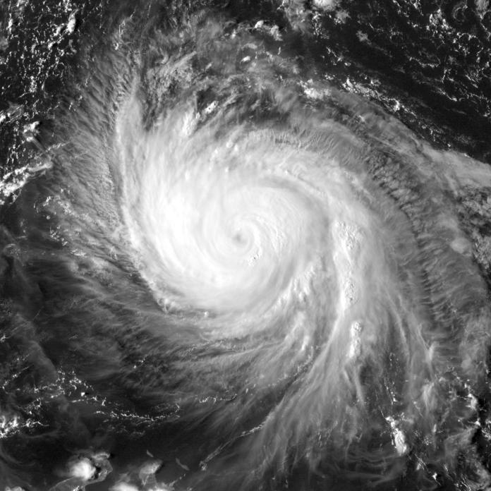 Imagen del huracán María. Imagen de archivo.