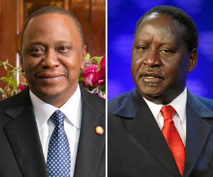 Uhuru Kenyatta y Raila Odinga candidatos a las elecciones de Kenia. Imagen de archivo.