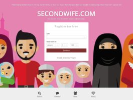 Imagen de inicio de la web secondwife.com. Becoming the Alpha Muslim.
