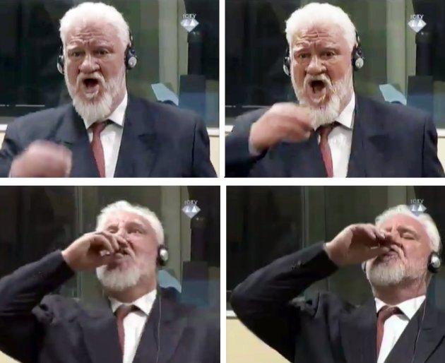 Slobodan Praljak toma veneno durante su juicio en La Haya