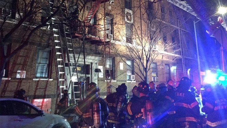 12 personas mueren en un incendio en Nueva York