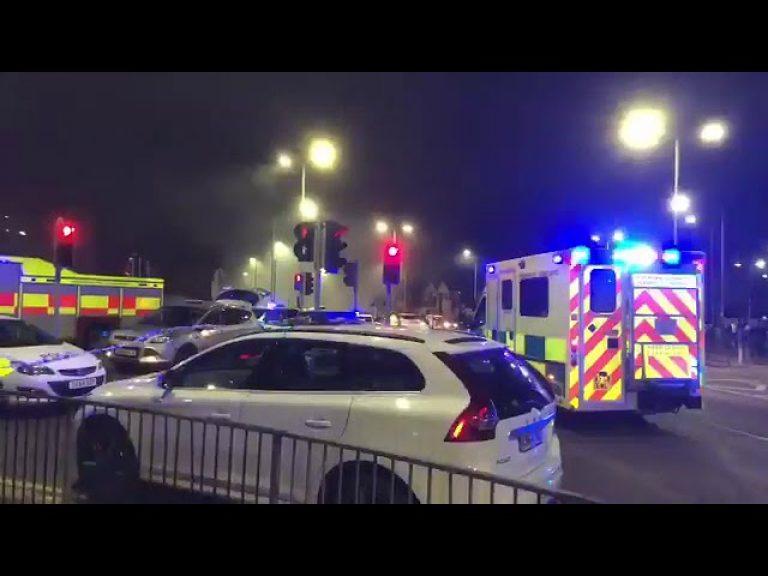 Una fuerte explosión  en Leicester en una tienda de Londis