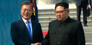 Kim Jong-un y Moon Jae-in, los líderes de las dos Coreas. télam.