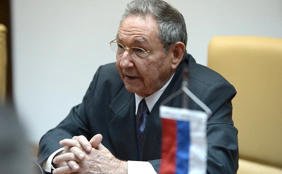 El dirigente cubano, Raúl Castro. Kremlin.