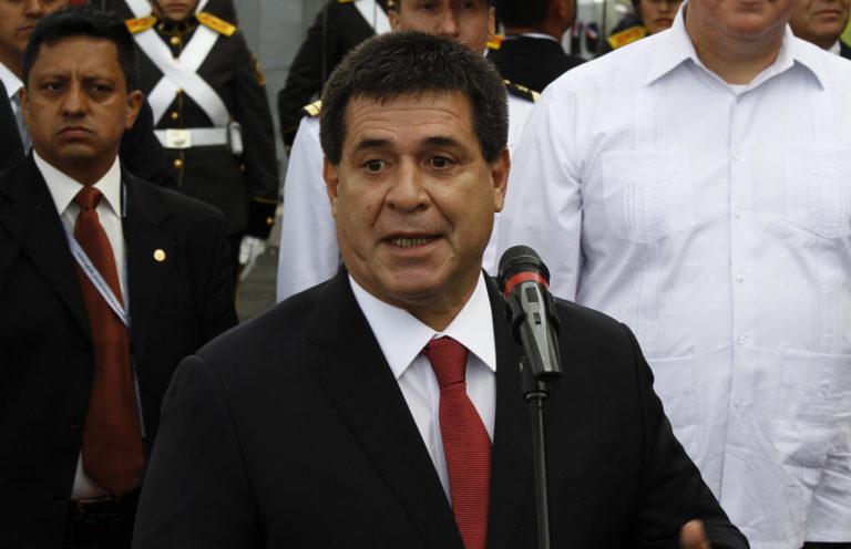 Horacio Cartes, presidente de Paraguay, anuncia su cese