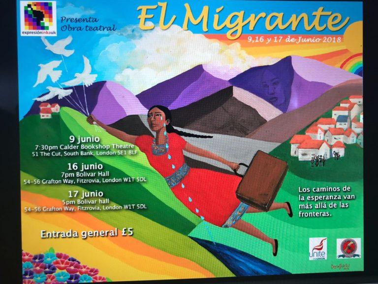 Obra de teatro el migrante