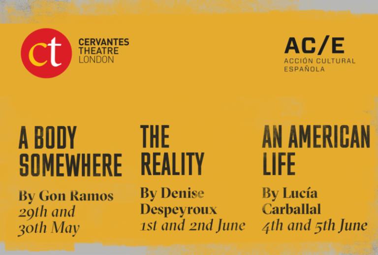 A Body Somewhere /Un Cuerpo en Algún Lugar en el Teatro Cervantes