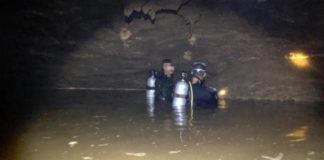 Trabajos de búsqueda niños atrapados en una cueva de Tailandia. Sinaloa Press.