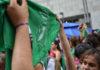 Pañuelos verdes a favor de la despenalización del aborto. Flickr.